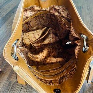Tignanello Bags - Tignanello Genuine Leather Caramel Bucket Bag